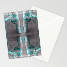 Ballet Shoe Blue reflection Stationery Cards