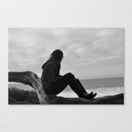 Beach Watching Canvas Print
