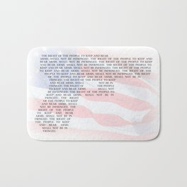 Second Amendment Bath Mat