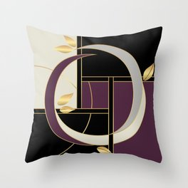Leaves falling on Rodeo Drive Throw Pillow