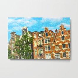 Amsterdam facades Metal Print