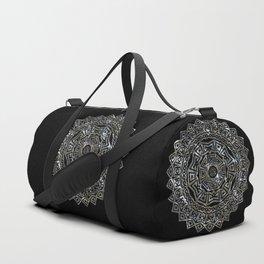 Aztec Mexican Silver Mandala Duffle Bag
