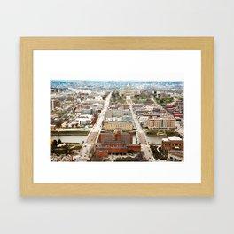 Des Moines Capital Framed Art Print