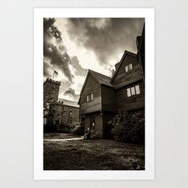 Corwin House - Salem MA - Black and White Art Print