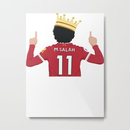 Mo Salah Egyptian King Liverpool Metal Print