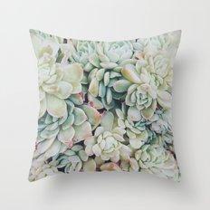 Primrose Green Throw Pillow