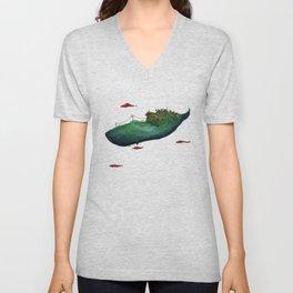 Whale Unisex V-Neck
