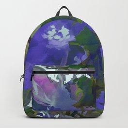 Violet Water Blossoms Backpack