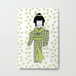 Matcha Tea Metal Print