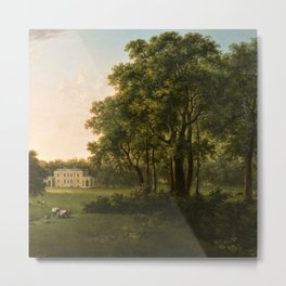 Classical Masteripiece 'A View of the South Front of Bower House, Havering-atte-Bower' by Abraham Pe Metal Print