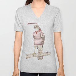 Little Sailor Hawk Unisex V-Neck