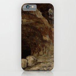 "Gustave Courbet ""Grotto of Sarrazine near Nans-sous-Sainte-Anne"" iPhone Case"