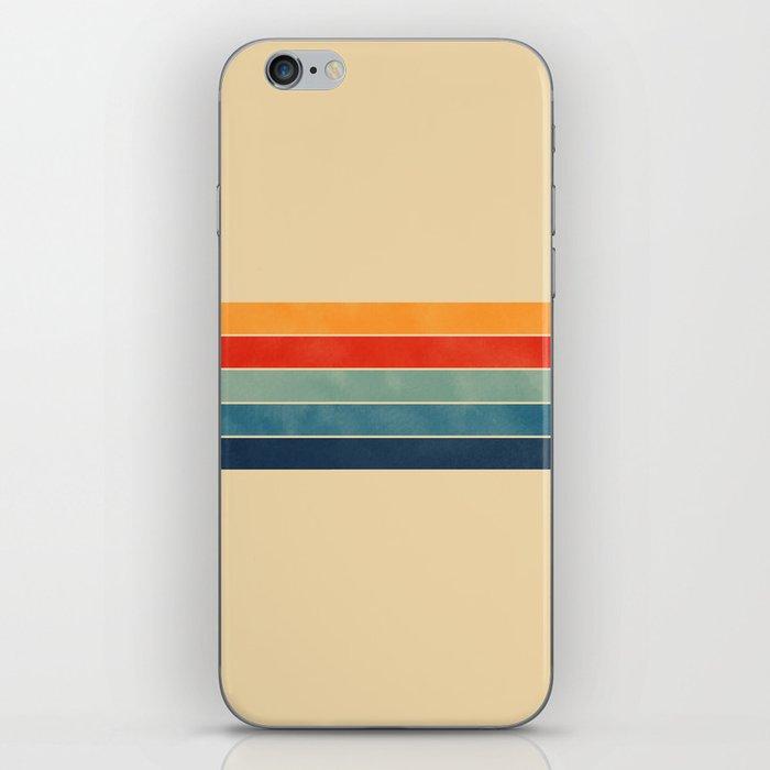 retro stripes iPhone Skin