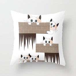 Curious Cat Throw Pillow