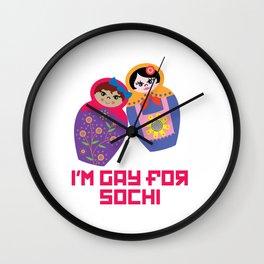 I'm Gay for Sochi—Female Nesting Dolls Wall Clock