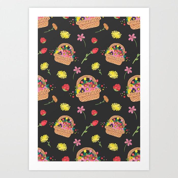 La Fleur Pattern Art Print
