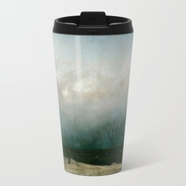 The Monk by the Sea by Caspar David Friedrich 1808 Travel Mug
