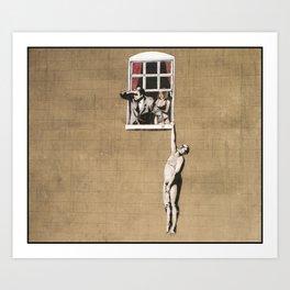 Banksy - Council Building, Bristol Art Print