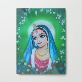Radharani - The Indian Goddess of Love Metal Print