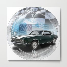 "1968 Chevrolet Camaro Z/28 Decorative 10"" Wall Clock (025ac) Metal Print"