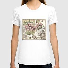 Map of America (1734) T-shirt