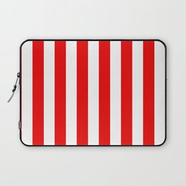 Holidaze Stripe Red White Vertical Laptop Sleeve