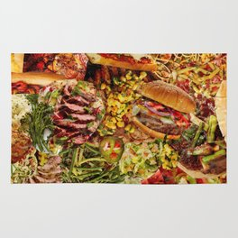 Food Collage 1 Rug