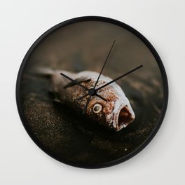 dead fish at the beach Wall Clock