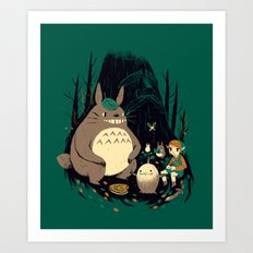 spirits of the forest Art Print