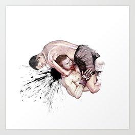 Nate Diaz vs. Jim Miller Art Print