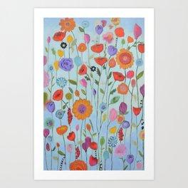 """""""Garden Whimsy"""" Art Print"""