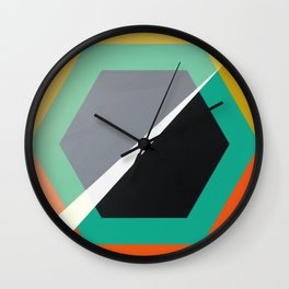 London - retro hexagon Wall Clock