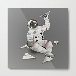 Astronaut in Training Metal Print