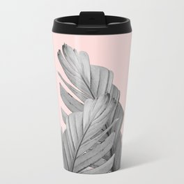 Blush Banana Leaves Dream #2 #tropical #decor #art #society6 Travel Mug