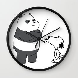 snoopy and we bare bears Wall Clock