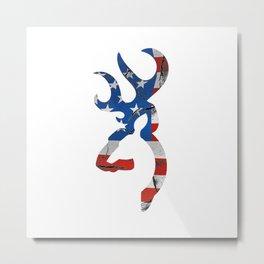 BROWNING USA FLAG VINTAGE Metal Print