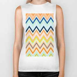 Colorful chevron Biker Tank