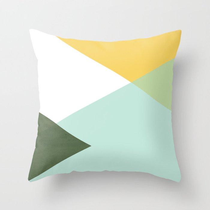 Geometrics - citrus & concrete Throw Pillow
