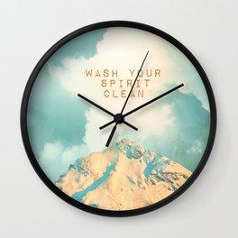 WASH YOUR SPIRIT CLEAN (JOHN MUIR) Wall Clock