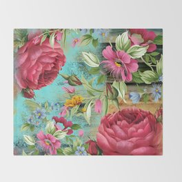 Vintage flowers #11 Throw Blanket