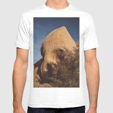 Skull Rock II White Mens Fitted Tee MEDIUM