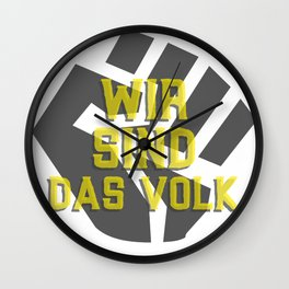 We are the decisive people Wall Clock
