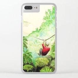 Zip-Line Watercolor Clear iPhone Case
