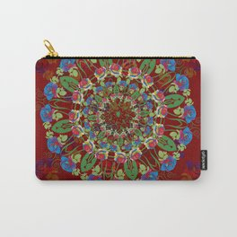 Abstract Rainbow Roses Round Carry-All Pouch