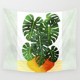 Swiss Cheese Plant Wall Tapestry