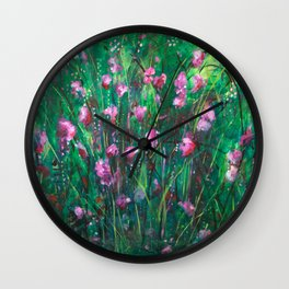 """WOODLAND SPRING"" Original Painting by Cyd Rust Wall Clock"