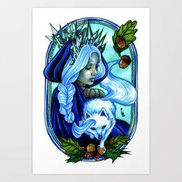 Winter Ice Queen Art Print
