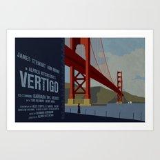 Vertigo alternate movie poster Art Print