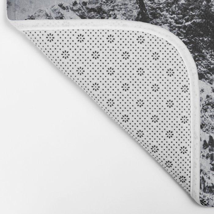 Mountain black white 5 photo Bath Mat
