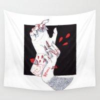 werewolf Wall Tapestries featuring Werewolf by scoobtoobins